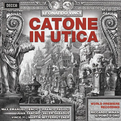 OPERA RECORDING OF THE YEAR (17-18th CENTURY) Catone in Utica A world premiere recording of an opera by a Leonardo Vinci, Neapolitan master fast gaining a first-rate modern reputation.The cast includes Max Emanuel Cencic and Franco Fagioli.